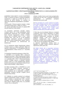Nariadenie EPaR (ES) 300-2008