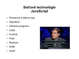 Čo je JavaScript