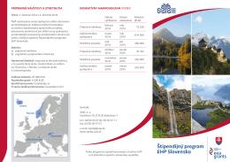 Slovenská verzia - Štipendijný program EHP Slovensko
