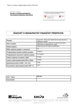 Príloha 2: Žiadosť o NFP