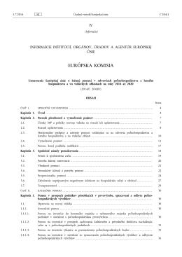 Usmernenia Európskej únie o štátnej pomoci v odvetviach