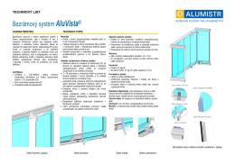 Bezrámový systém AluVista®