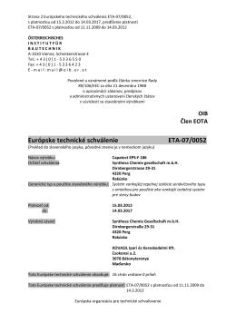 Európske technické schválenie ETA
