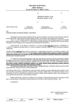 usmernenie ObÚ Prešov, odbor školstva (PDF)