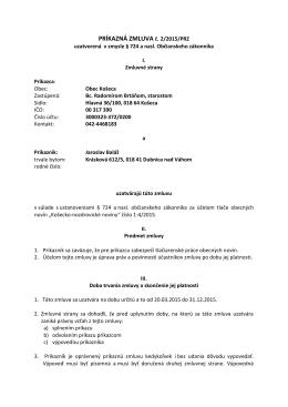 PRÍKAZNÁ ZMLUVA č. 2/2015/PRZ