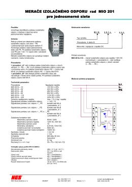 Merace_izolacneho_odporu_DC_MIO 201.pdf