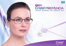 NOVINKA! Crizal Prevencia - trvalá ochrana očí
