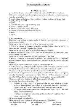 zápisnica a uznesenia 23.11.2014