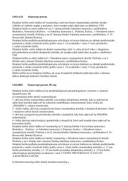 Indikačné obmedzenia - biologická liečba 01.2011