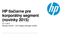 HP tlačiarne pre korporátny segment (novinky 2015)