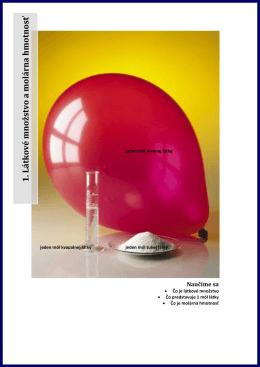 1. Látkové množstvo a molárna hmotnosť