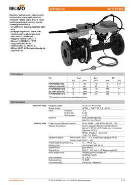Technický list P6..W..EV-BAC sk