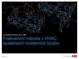 Měniče frekvence v HVAC systémech moderních budov