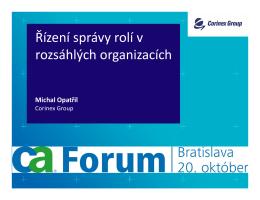 Řízení správy rolí v rozsáhlých organizacích