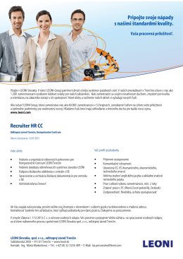 Recruiter HR CC