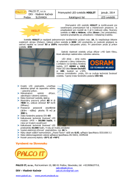Priemyselné LED svietidlo HIGLIT