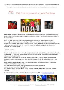 ponuka firemné eventy s Homosapiens (PDF)