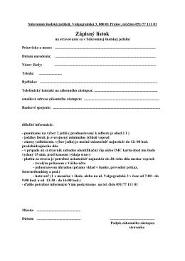 Zápisný lístok - infostrava.sk