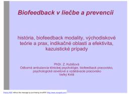 Biofeedback v liečbe a prevencii
