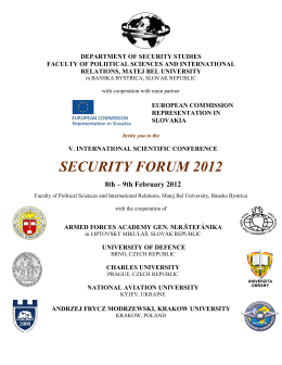 SECURITY FORUM 2012