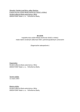 Krajská komisia súťaže Mladý ekofarmár (Súťaž o mlieku)