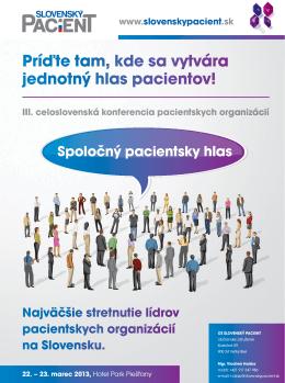 Pozvánka na konferenciu v Piešťanoch