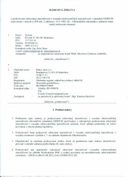 Zmluva o poskytovaní ošetrovateľskej starostlivosti