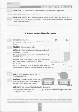 1.9 llleranie hmotnosti lwapalin a plynou