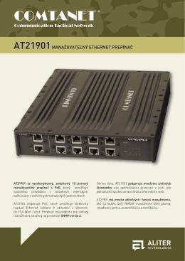 AT21901 Manažovateľný Ethernet prepínač