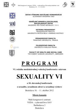 program konferencie - Spoločnosť pre plánované rodičovstvo