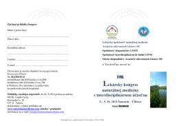 POZVÁNKA s PRIHLÁŠKOU - Asociácia súkromných lekárov SR