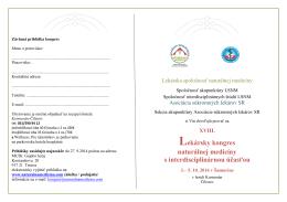 Lekársky kongres naturálnej medicíny s