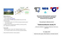 Telekomunikačné stavby VI - Partnerstvá pre prosperitu