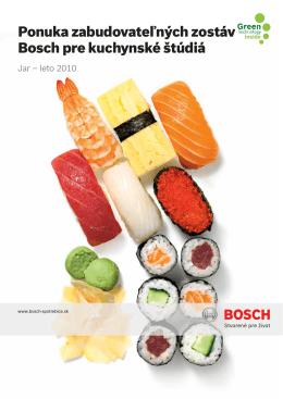 Ponuka zabudovateľných zostáv Bosch pre