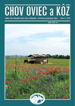 Číslo 02/2013 - Zväz chovateľov oviec a kôz na Slovensku