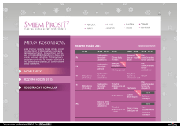 vytlačiť rozvrh/PDF - tanečná škola Mirky Kosorínovej