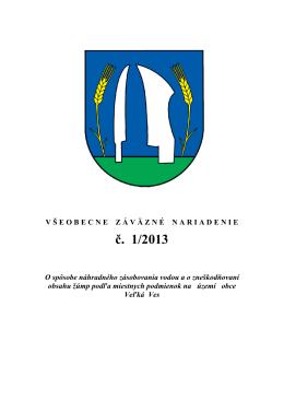 VZN - obce s verejným vodovodom SCHVÁLENÉ