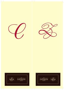 Vínna karta - Hotel Zlatý Kľúčik