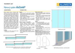 Rámový systém AluCombi®