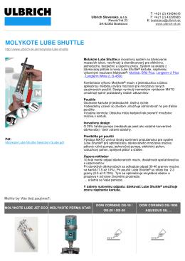 MOLYKOTE LUBE SHUTTLE - ulbrich slovensko, sro