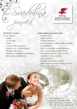 svadba menu - Hotel | Impozant
