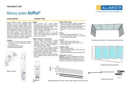 Rámový systém AluPlus®