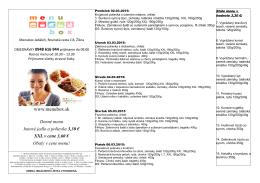 Denné menu hotové jedlo a polievka 3,30 € XXL v cene 3,60