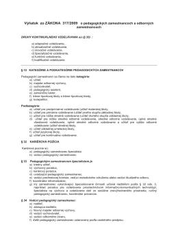 pozri výňatok zo Z. z. 317/2009
