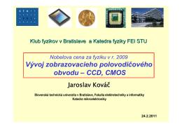 CCD, CMOS - Slovenská technická univerzita v Bratislave