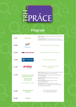 Program - Košice IT Valley