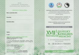 18. – 20.10.2013 v TRNAVE s interdisciplinárnou účasťou