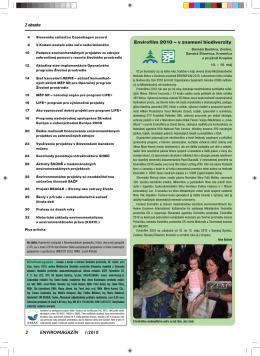 Z obsahu 2 ENVIROMAGAZÍN 1/2010 Envirofilm 2010 – v