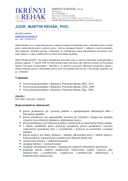 CV Martin Rehák (Adobe PDF)