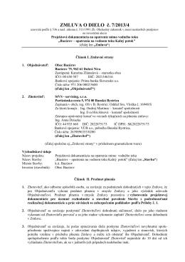 ZMLUVA O DIELO č. 7/2013/4